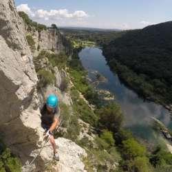 Via Ferrata Gorges du Gardon, Collias